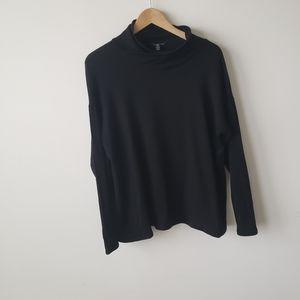 Eileen Fisher black turtleneck top size XS
